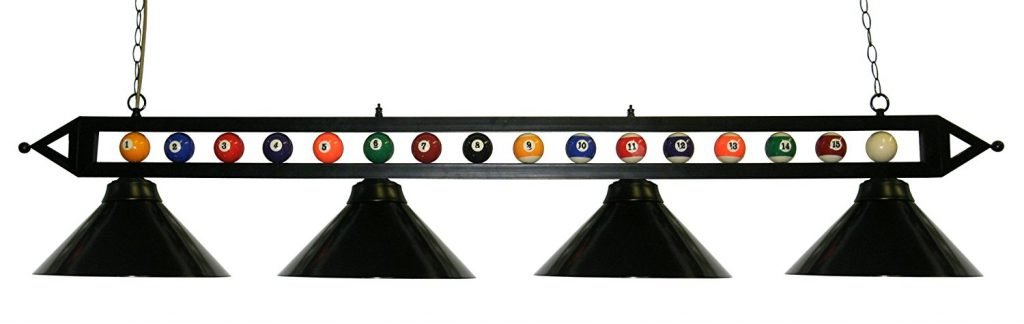 Black Metal Ball Design Pool Table Light Billiard Light_1 review