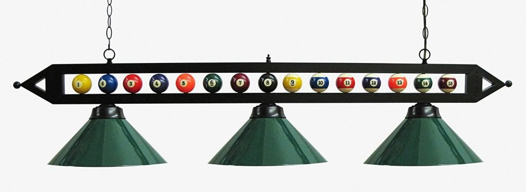Black Metal Ball Design Pool Table Light Billiard Light_2 review