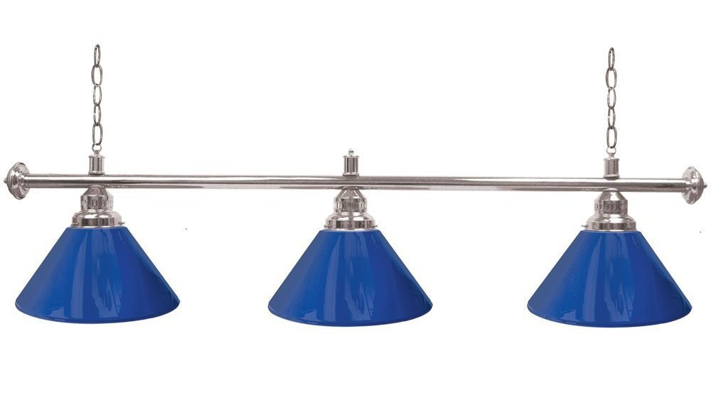 Silver Trademark Gameroom Blue Three Shade pool lamp review