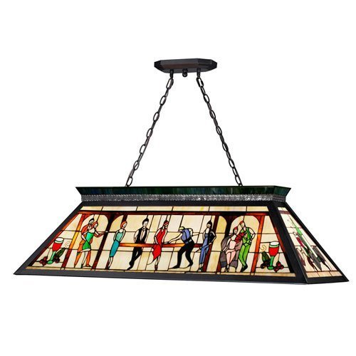 Z-Lite KD28 4-Light Billiard, Multi Colored Tiffany Shade review