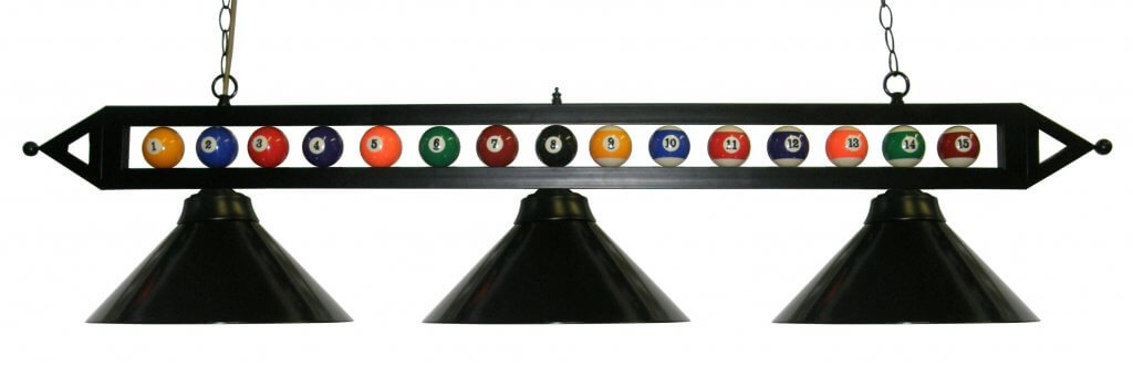 Black Pool Table Light