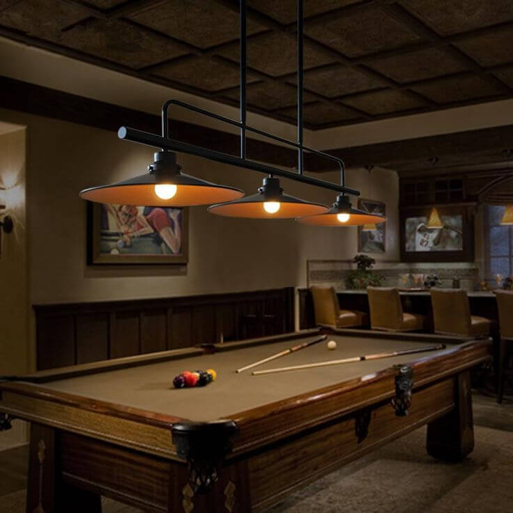 Pool table light height what you need to know all about pool comparison table of billiard lights keyboard keysfo Image collections