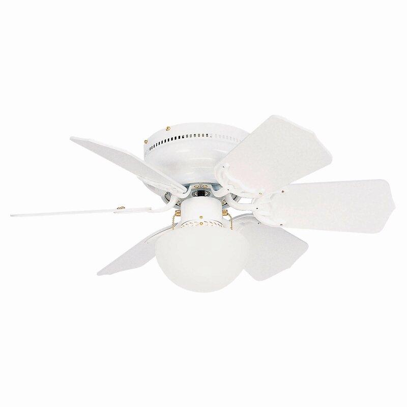 "Andover Mills 30"" Gatun Flushmount 6 Blade Ceiling Fan"