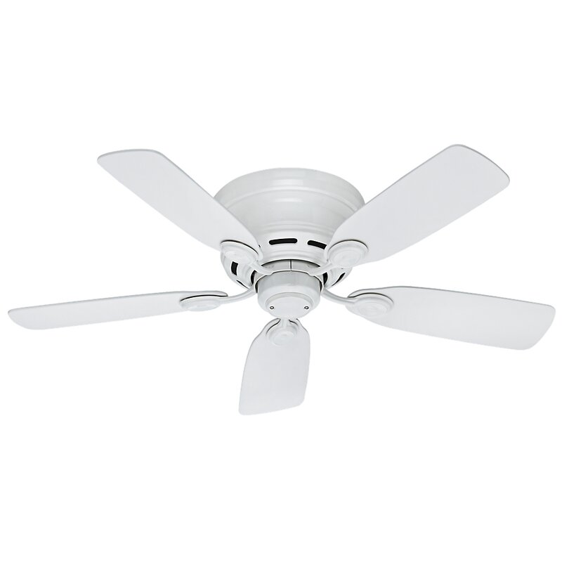 "Ebern Designs 42"" Gerasim 5-Blade Flush Mount Ceiling Fan"
