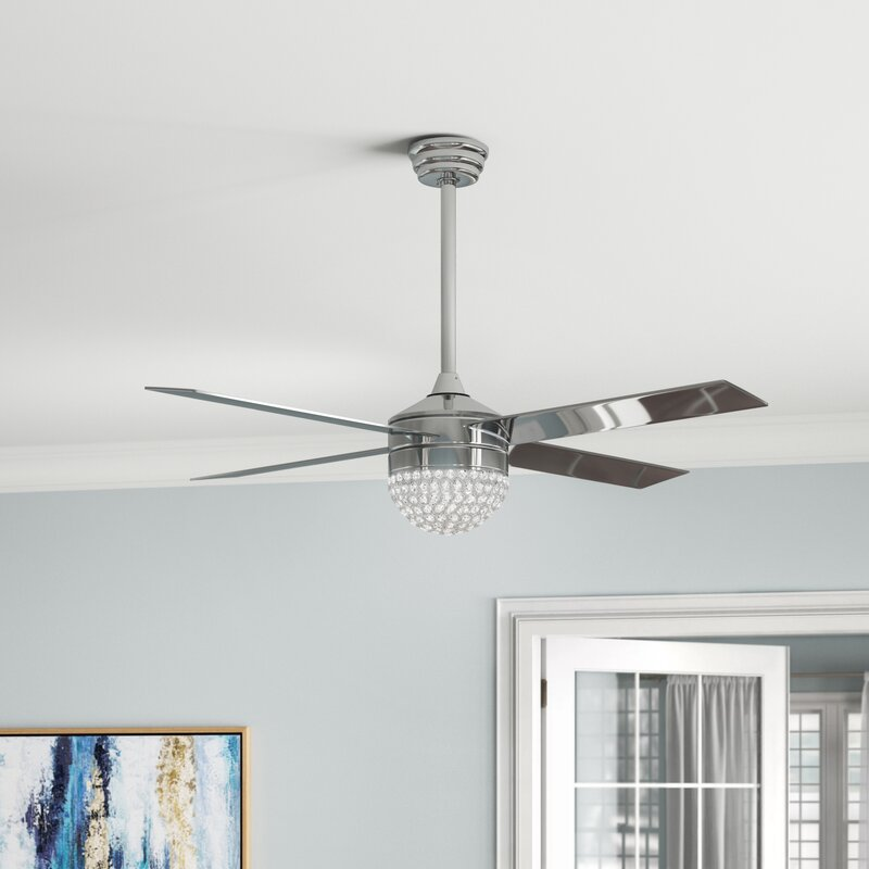 "House of Hampton 48"" Marinelli Modern 4 Blade Ceiling Fan with Remote"
