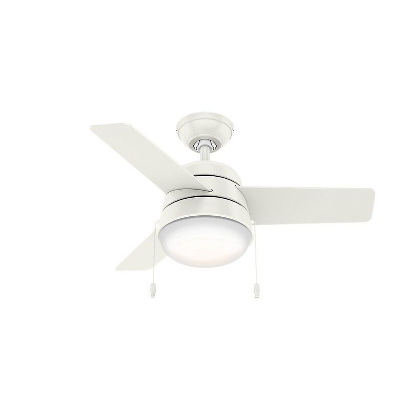 "Hunter Fan 36"" Aker 3-Blade LED Standard Ceiling Fan with Pull Chain"