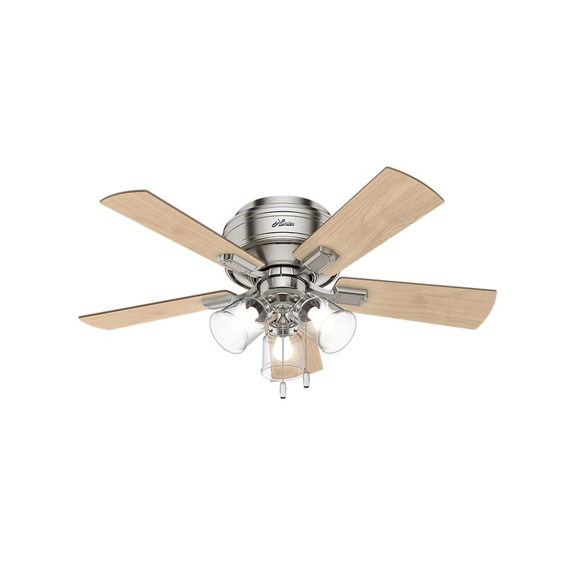 "Hunter Fan 42"" Crestfield 5-Blade Flush Mount Ceiling Fan"