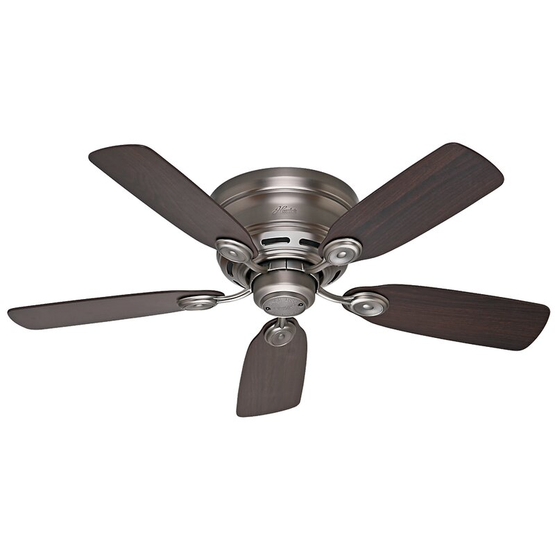 "Hunter Fan 42"" Low Profile IV 5-Blade Flush Mount Ceiling Fan"