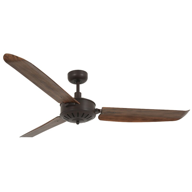 "Orren Ellis 56"" Yuriko 3 Blade Ceiling Fan with Remote"